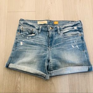 Anthropologie Pilcro Light Wash Denim Shorts